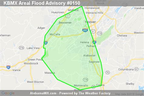 Areal Flood Advisory Issued For Parts Of Bibb, Jefferson