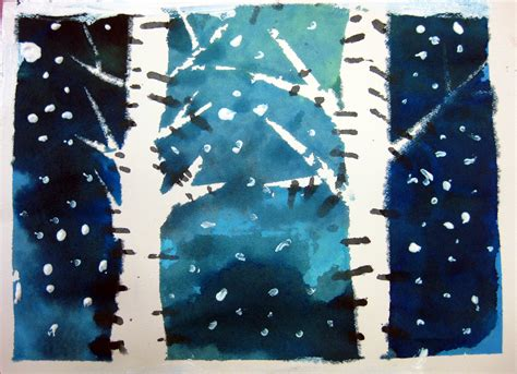 paw prints: painting winter