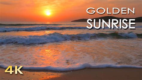 4K Golden Sunrise - Nature Relaxation Video - Relaxing Sea