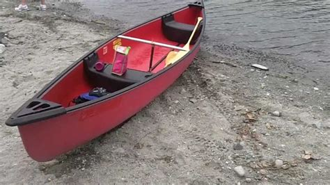 15 Ft Coleman Canoe Red Composite With Paddles