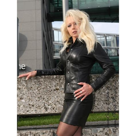 Leather blouse DS-322 : Crazy-Outfits - webshop for