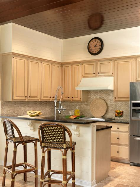 Transitional Small Kitchen With Breakfast Bar   HGTV