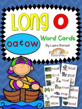 Long O oa & ow Word Cards by Laura Boriack - Over the 1st