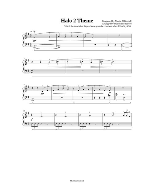 Halo Theme for EASY Piano - Beginner Solo sheet music for