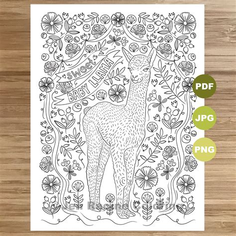 Adult Coloring Pages Llama - Tripafethna