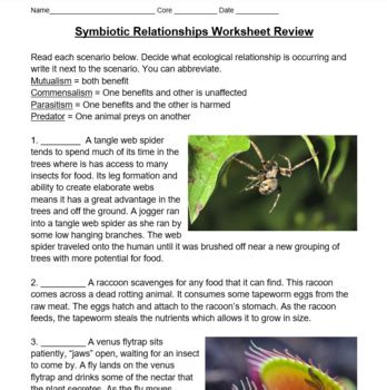 Symbiotic (ecological) Relationships Lesson - PowerPoint