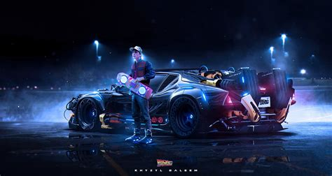 Back To The Future, Car, Hoverboard, Khyzyl Saleem