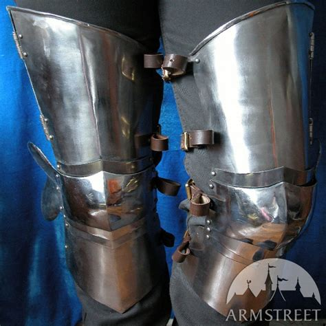 Medieval Western Leg Armor:thigh Plates, Knee Cops for