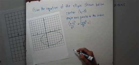 How to Find the equation of an ellipse given a graph