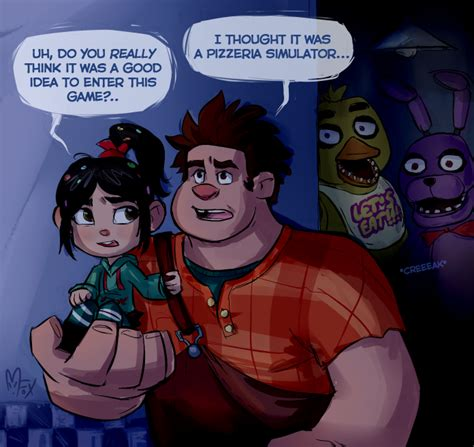 Wreck-it-Ralph at Freddy's by Mistrel-Fox | Five Nights at