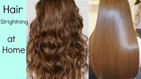 Hair Straightening at home, without Hair Straightener/heat