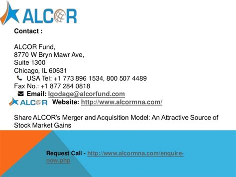 Alcor's merger and acquisition model
