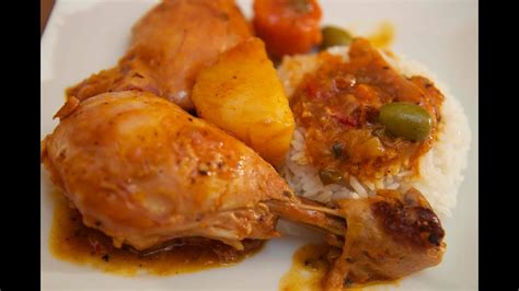 Chicken Fricassee - Fricase de pollo - Cooked by Julie