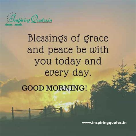 Blessing of Grace Good Morning Sayings Images - Inspiring