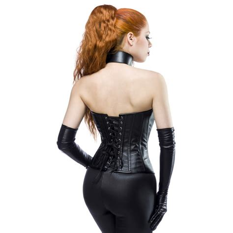 Faux leather corsage 13980 : Crazy-Outfits - webshop for