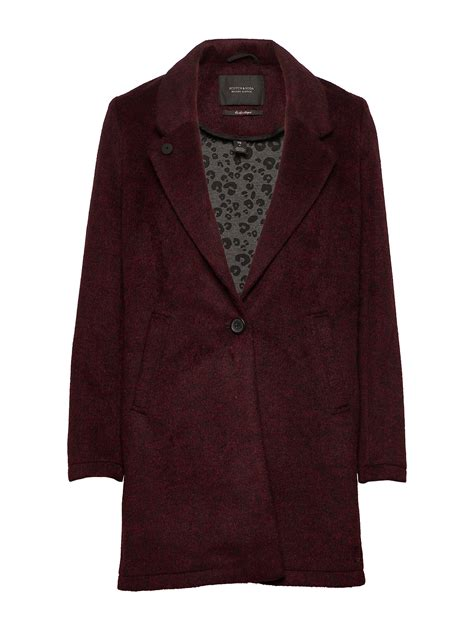 Scotch & Soda Bonded Wool Jacket In Checks And Solids
