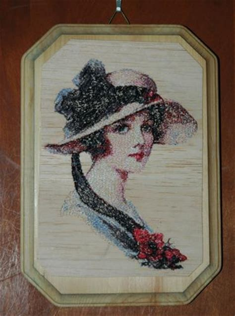 Embroidered Balsa Wood Hangings - Advanced Embroidery Designs