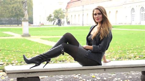 short skirt and thigh high boots - Urbasm